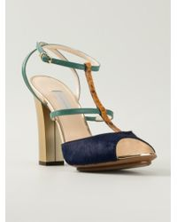 L'Autre Chose Strappy Chunky Heel Sandals - Lyst