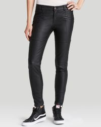 Free People Pants - Faux Leather Seamed Skinny - Lyst