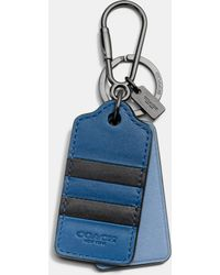 COACH | Modern Varsity Stripe Key Ring | Lyst