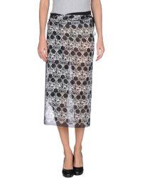 Ann Demeulemeester 3/4 Length Skirt - Lyst