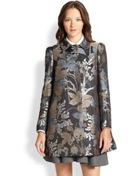 RED Valentino Printed Jacquard Coat - Lyst