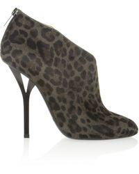 Jimmy Choo Lane Leopardprint Calf Hair Ankle Boots - Lyst