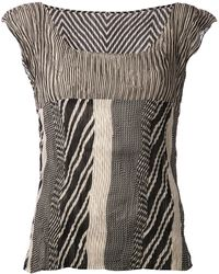 Issey Miyake Abstract Print Top - Lyst