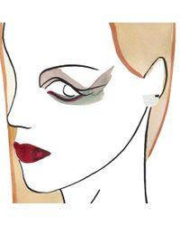 Marion Vidal | Marble Semi-circle Earrings | Lyst
