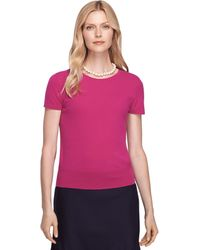 Brooks Brothers Shortsleeve Cashmere Shell - Lyst