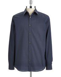 Calvin Klein Striped Sport Shirt - Lyst