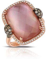 Marco Moore | Amethyst And Quartz Doublet, Diamond And 14k Rose Gold Ring | Lyst