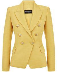 Balmain Pique Jacket - Lyst