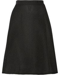Sea Honeycomb Mesh Skirt - Lyst