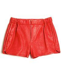 Thakoon Addition - Leather Gym Shorts - Lyst
