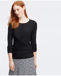 Ann Taylor | Tall Ruched Long Sleeve Top | Lyst