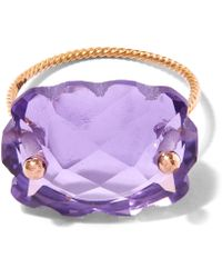 Laurent Gandini - Rose Gold Amethyst Scalloped Ring - Lyst