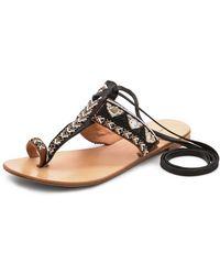 Antik Batik Adonis Beaded Sandal Black - Lyst