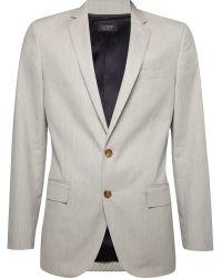 J.Crew Ludlow Striped Cotton Suit Jacket - Lyst