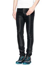 Lanvin Shimmery Denim Slim Fit Jeans - Lyst