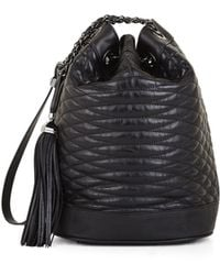 BCBGMAXAZRIA Florance Mini Quilted Leather Bucket Bag - Lyst