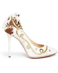 Charlotte Olympia 'Giddy Up' Horse Appliqué Leather Pumps - Lyst