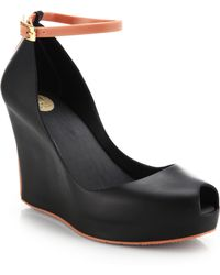 Melissa Patchul Ankle-Strap Wedge Pumps - Lyst