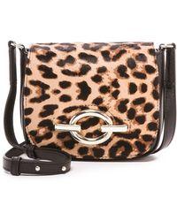 Diane von Furstenberg Haircalf Cafe Mini Leopard Bag - Black/Leopard - Lyst