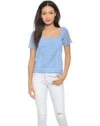 Paul & Joe Sister Fluor Top - Blueberry - Lyst