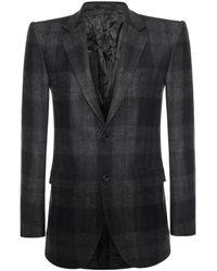 Alexander McQueen Wool Check 2button Jacket - Lyst