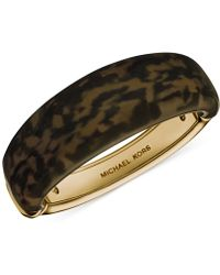 Michael Kors Gold-Tone Tortoise Bangle Bracelet - Lyst