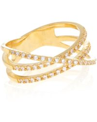Accessorize - Crystal Cross Over Eternity Ring - Lyst