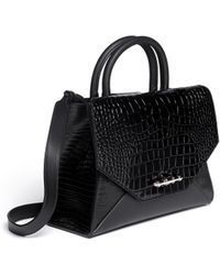 Givenchy New Obsedia Small Croc-Embossed Leather Tote - Lyst