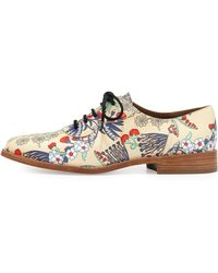 Marc By Marc Jacobs Gardenprint Leather Oxford - Lyst