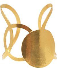 Herve Van Der Straeten Goldplated Cutaway Cuff - Lyst