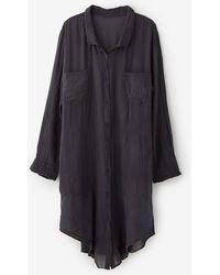 Raquel Allegra Long Sleeve Gauze Dress - Lyst