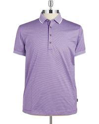 Hugo Boss Striped Polo Shirt - Lyst