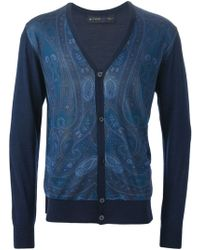 Etro Floral Paisley Print Cardigan - Lyst