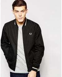 Fred Perry Laurel Wreath Tennis Bomber Jacket - Lyst