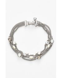 Givenchy Women'S Stone Three-Strand Bracelet - Silver/ White Opal (Nordstrom Exclusive) - Lyst