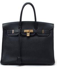 Hermès HermãˆS Dark Blue Handbag blue - Lyst