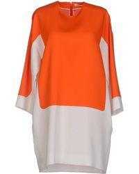 Celine Orange Short Dress - Lyst