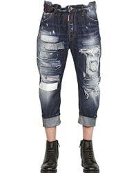 DSquared² 20Cm Patches Big Dean Cotton Denim Jeans - Lyst