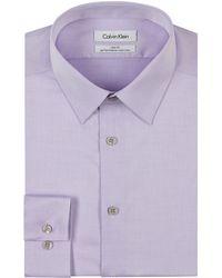 Calvin Klein Slim Fit Performance Dress Shirt - Lyst