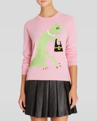 Moschino Cheap & Chic Pullover - Dinosaur with Bag Graphic Cashmere - Lyst