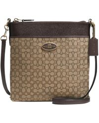COACH - Signature Swingpack Leather Bag - Lyst
