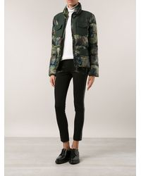 Moncler Padded Printed Jacket - Lyst