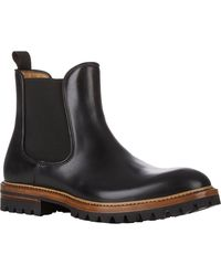Elia Maurizi Leather Chelsea Boots - Lyst