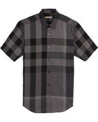 Burberry Brit Checked Short Sleeve Shirt - Lyst