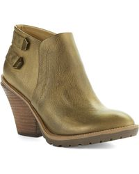 Kenneth Cole Reaction Kitty Stacked Heel Ankle Boots - Lyst