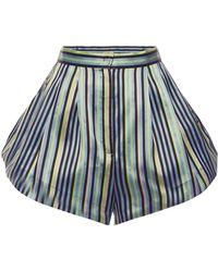 Natasha Zinko - Striped Jacquard Shorts - Lyst