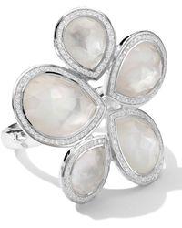 Ippolita - Sterling Silver Stella Teardrop Stone Ring in Motherofpearldiamonds - Lyst