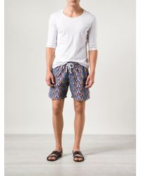 Bantu - Printed Swim Shorts - Lyst