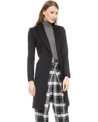 McQ by Alexander McQueen Evening Coat  Jet Black - Lyst
