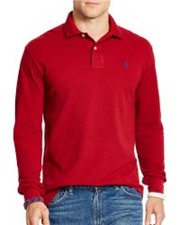 Polo Ralph Lauren | Long-sleeved Classic-fit Mesh Polo Shirt | Lyst